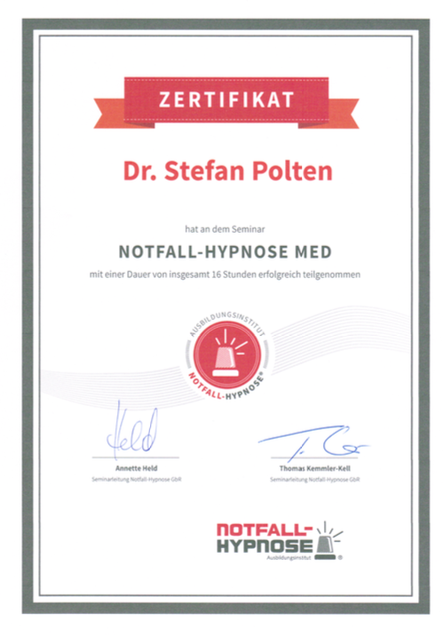 Zertifikat Notfall-Hypnose
