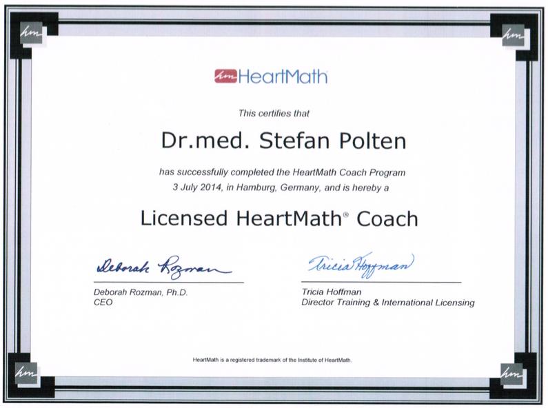 Zertifikat HeartMath-Coach