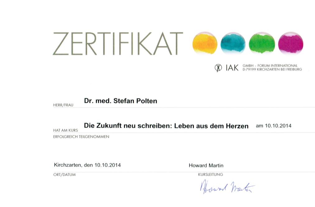 Zertifikat HeartMath-Workshop