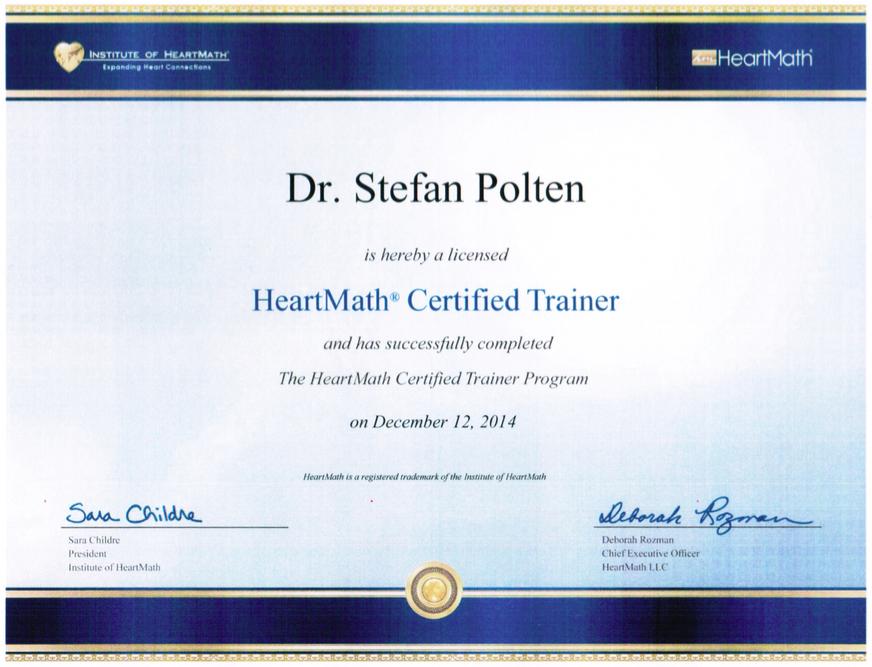 Zertifikat HeartMath-Trainer