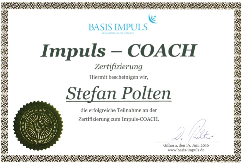 Zertifikat Impuls-Coach