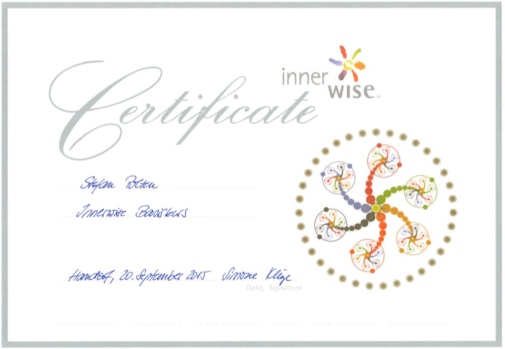 Zertifikat innerwise Basiskurs