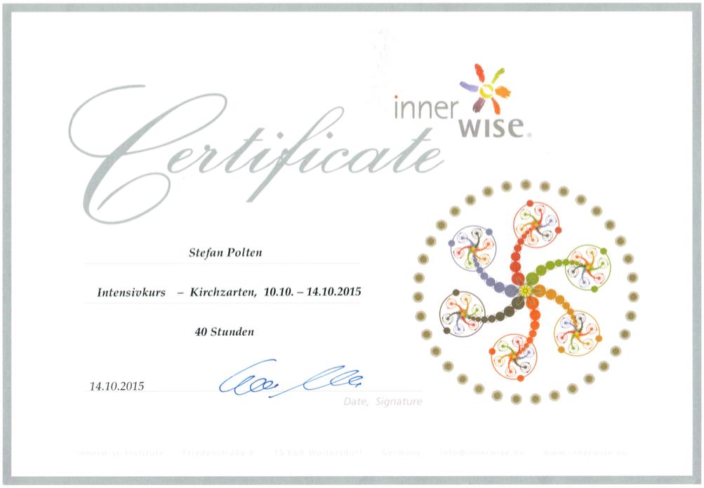 Zertifikat innerwise Intensivkurs (Coach)
