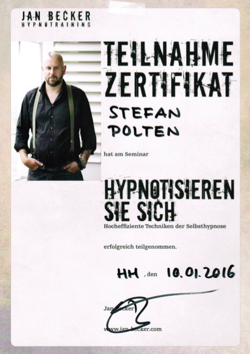 Zertifikat Selbsthypnose