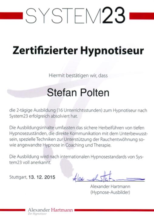 Zertifikat System23
