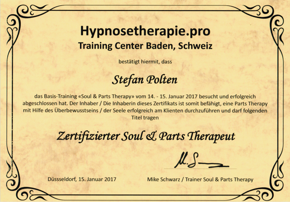 Zertifikat Soul & Parts Therapy
