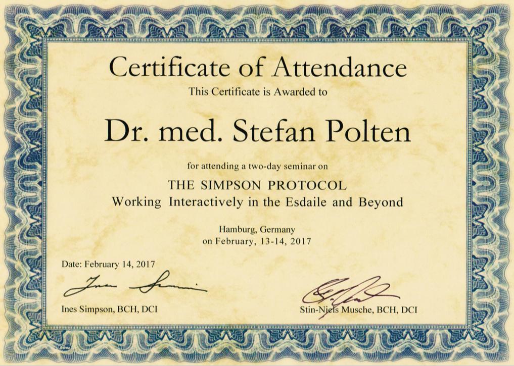 Zertifikat The Simpson Protocol