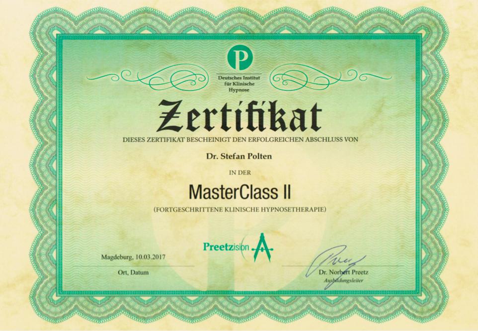 Zertifikat MasterClass 2