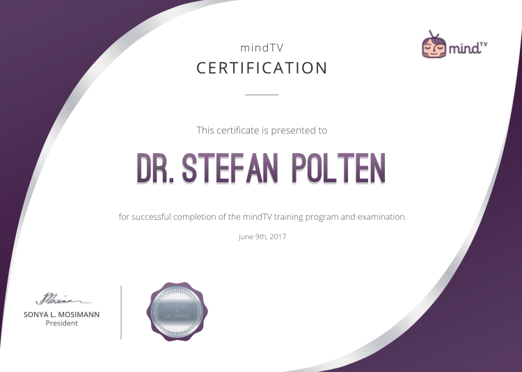 Certificate of Completion mindTV