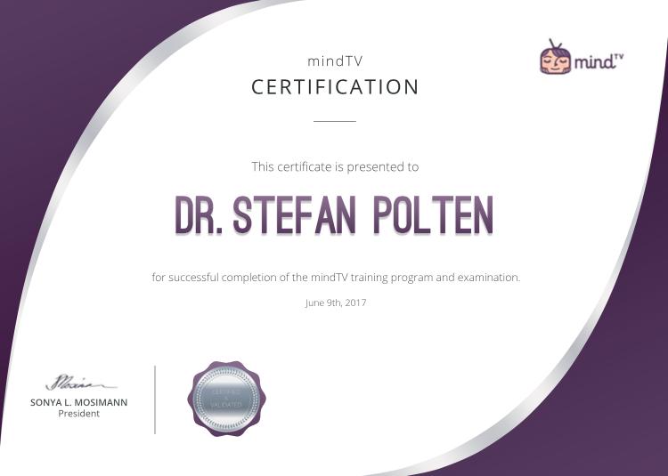 Certificate of Completion mindTV
