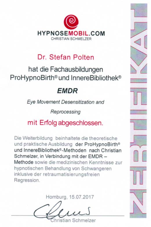Zertifikat ProHypnoBirth®, InnereBibliothek® nach Christian Schmelzer & EMDR