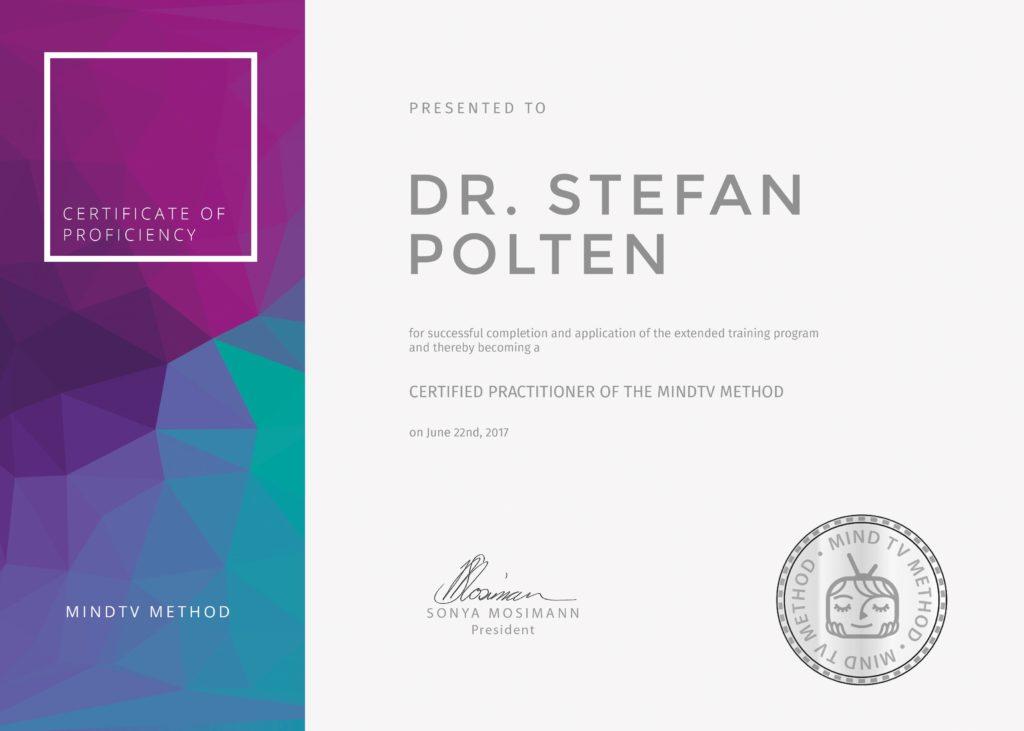 Certificate of Proficiency  mindTV