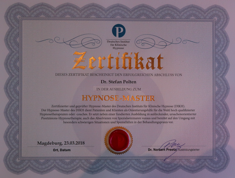 Zertifikat Hypnose-Master