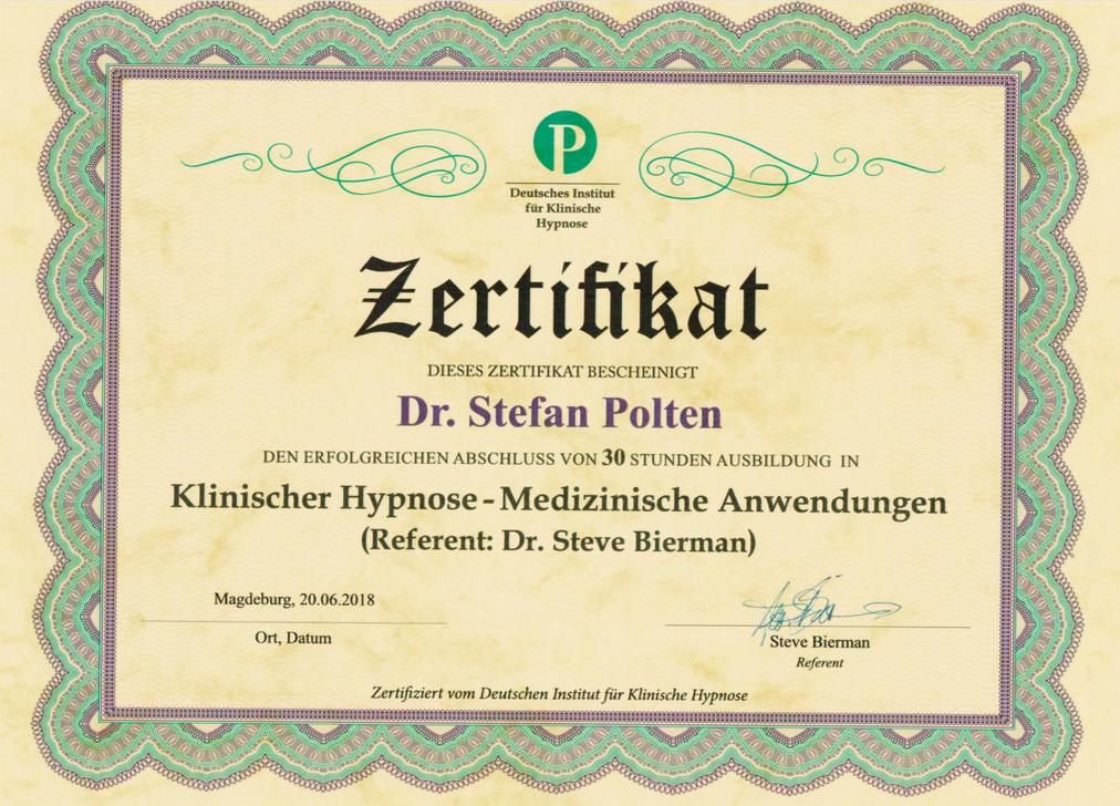 Zertifikat Klinische Hypnose - Medizinische Anwendungen