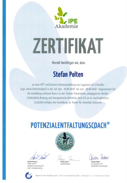 Zertifikat Potenzialentfaltungscoach®