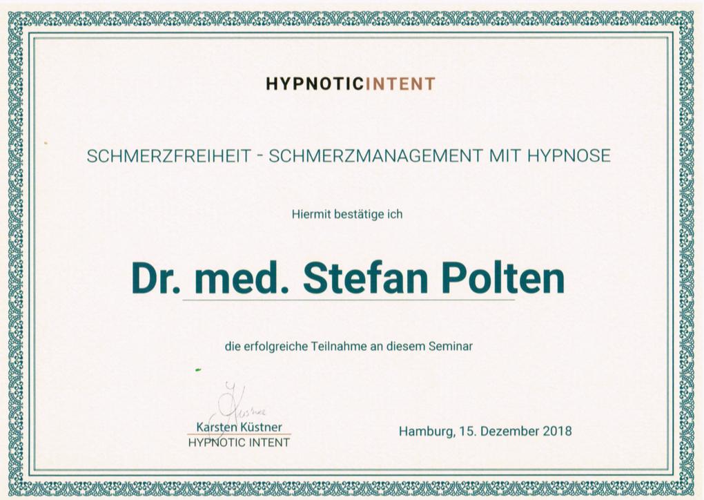 Zertifikat Schmerzmanagement mit Hypnose