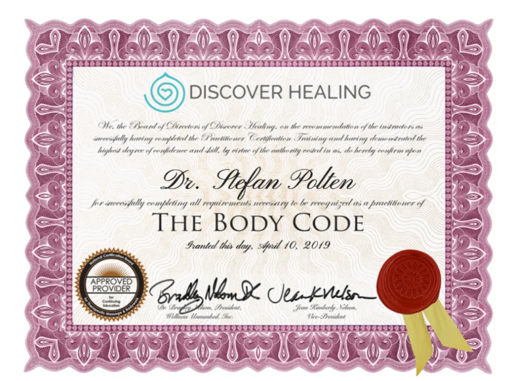 Zertifikat Certified BodyCode Practitioner