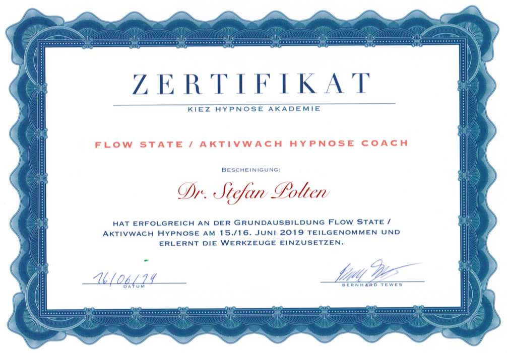 Zertifikat Flow State® Hypnose Coach