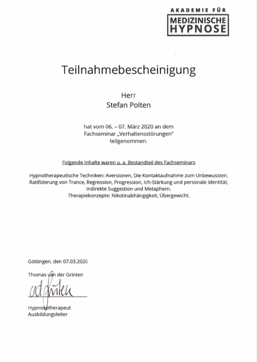 "Zertifikat Fachseminar ""Verhaltensstörungen"""